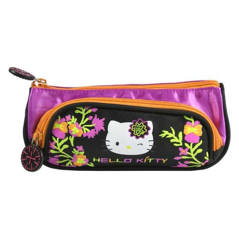 Czarna torba Hello Kitty z 2 przegródkami