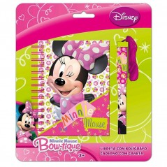 Bloc Notes + Stylo Cordon Minnie Disney