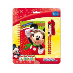 Bloc Notes + Stylo Cordon Mickey Disney