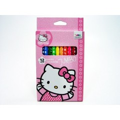 Scatola di 12 matite colorate Hello Kitty