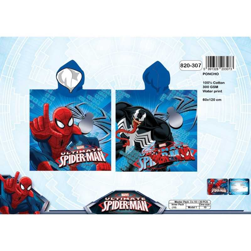 Poncho z kapturem Spiderman - 820-307