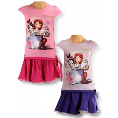 Sofia disney skirt and t-shirt set