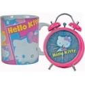 Hello Kitty Hello Kitty 12cm Clock Alarm Clock Set + 1 Hello Kitty Ceramic Hello Kitty Mug