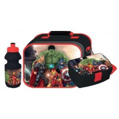 Sac isotherme Avengers avec boîte à goûter et gourde Avengers
