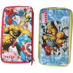 Spiderman metal pencil box or marvel heroes kit with 19 accessories