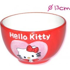 BOWL HELLO KITTY ceramic relief