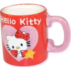 TAZA HELLO KITTY en relieve.