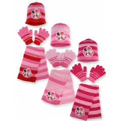 Minnie Disney 3-piece set CAP + GLOVES + SCARF Minnie Disney