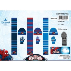 Set 3 pieces Spider-man HAT + GLOVES + SCARF Spider-man