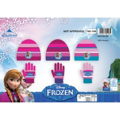 Set de 2 piezas de Frozen Disney con gorro y guantes The snow queen.