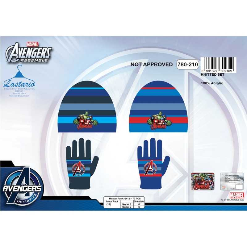 Avengers hat and gloves Avengers 2-piece set