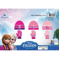 Set 2 pezzi Frozen Disney cappello e guanti The Snow Queen - 780-327