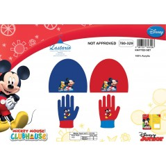 Mickey Disney 2 Piece Set Mickey Hat and Gloves