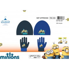 Set 2 pieces Minions hat and gloves Minions