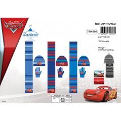 Zestaw 3 sztuki maski + rękawiczki + szalik Cars Disney 780-206