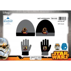 Set of 2 pieces Star Wars hat and gloves Star Wars