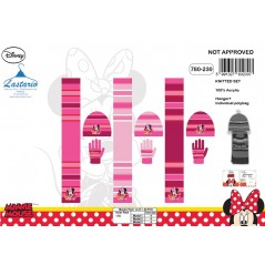 Set 3 pieces Bonnet + Gloves + Scarf Minnie 780-230