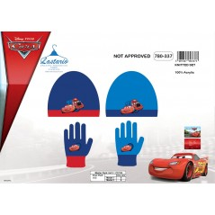Set 2 piece Cars beanie and gloves Cars