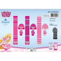Zestaw 3 sztuk Czapka + Rękawiczki + Szalik Princess Pets 780-243