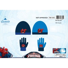 Spiderman hat and Spiderman gloves set