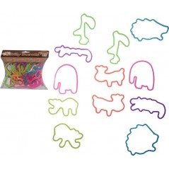 BLISTER 12PCS Bracelets SILLY BANDS SAFARI 100% SILICONE