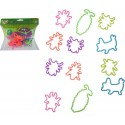 BLISTER OF 12PCS Bracelets SILLY BANDS Insects 100% SILICONE