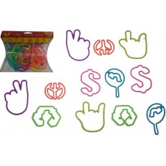 BLISTER OF 12PCS SILLY BANDS SIGN