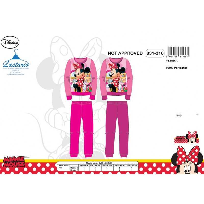 Langer Pyjama aus Fleece Minnie -831-316