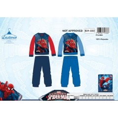 Pyjama polaire long Spiderman - 3 à 8 ans