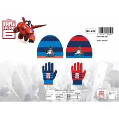 Set 2 pièces bonnet + gants Big Hero 6 Disney