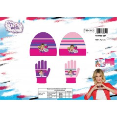 Set 2 pieces hat + gloves Violetta Disney