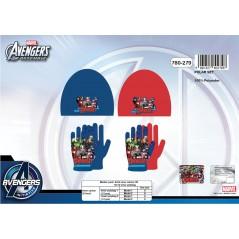 Motorhaube + Handschuhe Avengers 780-279 Fleece