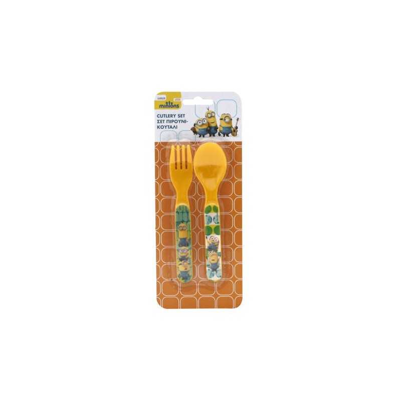 Set 2 pieces spoons + forks Minions