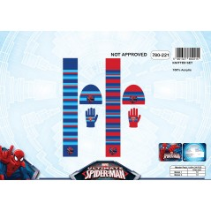 Set 3 pièces Spider-man BONNET + GANTS + ÉCHARPE Spider-man - 780-221