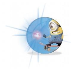 Balle rebondissante lumineuse Minions 10 cm Ø