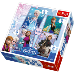 Puzzle Frozen disney - 4 in 1 Puzzle