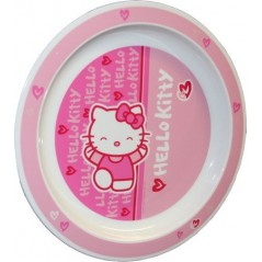 Plato de melamina Hello Kitty