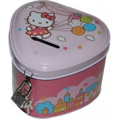 TIRELIRE METAL CADENAS hello kitty