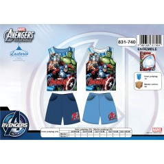 Ensemble Pyjama Court Avengers