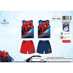 Set Tank Top + Shorts Spiderman