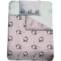 housse de couette taie d 39 oreiller hello kitty 1 housse de couette. Black Bedroom Furniture Sets. Home Design Ideas