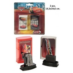 Blister pack of 2 SIZE-PENCIL and ERASER cars 2