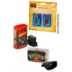 Blister pack of 2 SIZE-PENCIL and ERASER Marvel