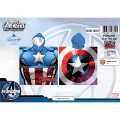 Poncho bath hooded captain america - the Avengers