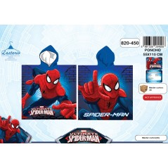 Poncho bath hooded Spiderman