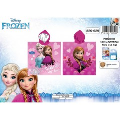 Poncho bath hooded Frozen - queen - snow