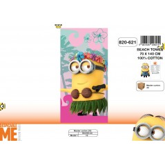 Beach towel Minions or bath towel Minions - 820-621