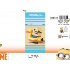 Drap de plage ou drap de bain Minions - 820-811