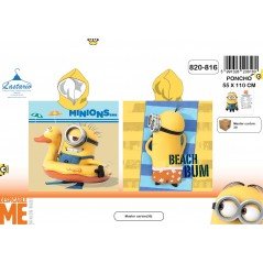 Poncho bath hooded Minions - 820-816