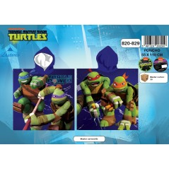 Poncho bath hooded Ninja Turtles -820-829